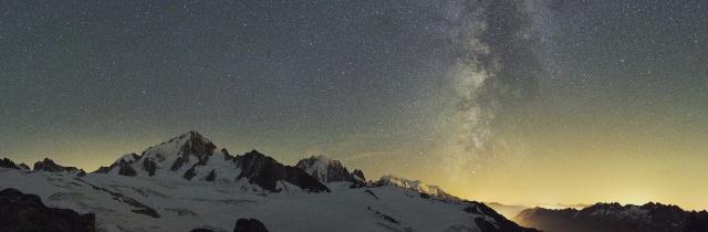Aiguille Verte under the Milky Way